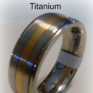Other - Wide Two-Tone Men's Titanium Band-Ring